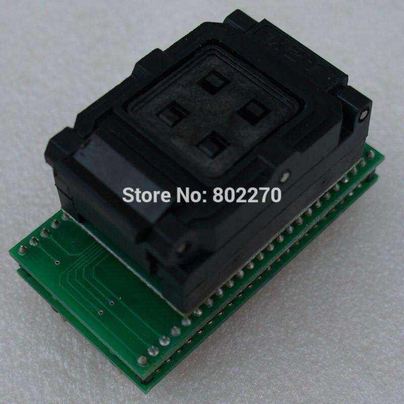 Adaptateur/adptor LGA52 à DIP48 prise IC ZIF 14X18mm uniquement pour programmeur TNM5000