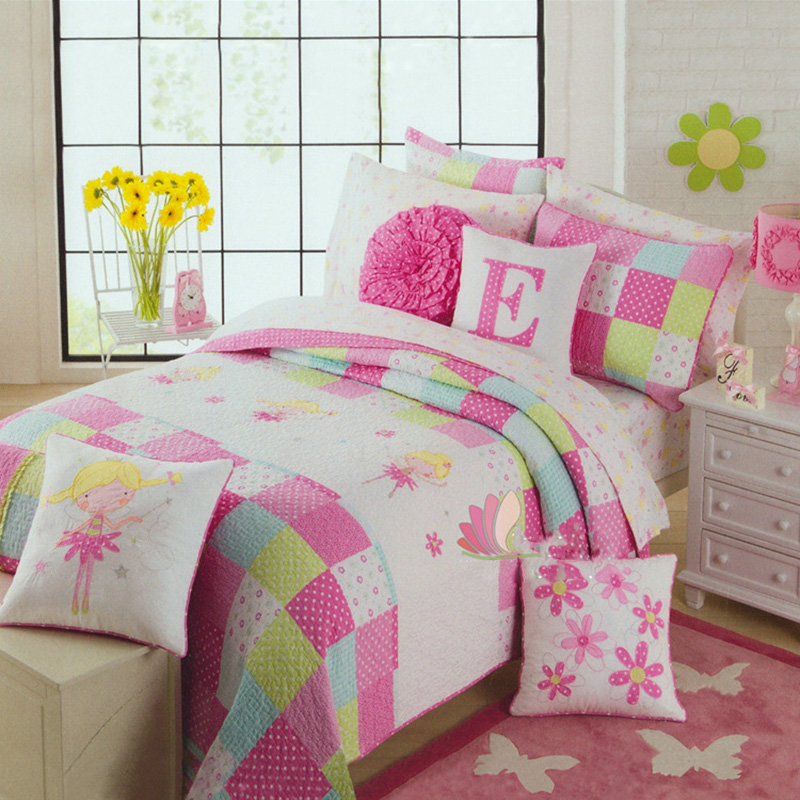 Chausub Handmade Applique Kids Quilt Set 2pcs Cotton