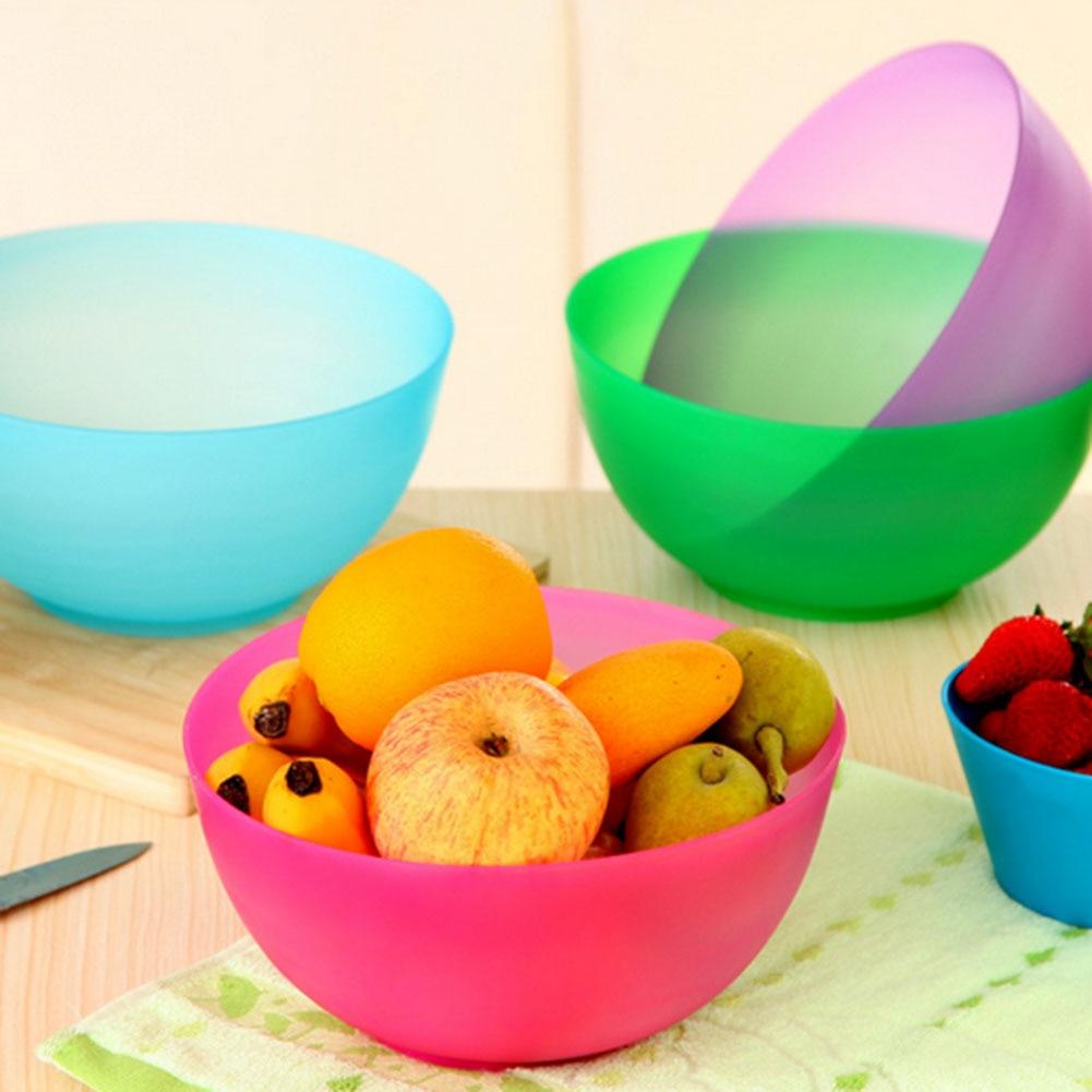 Food-Grade Plastic Salad Bowl Fruits And Vegetables Plastic Mixing Bowl