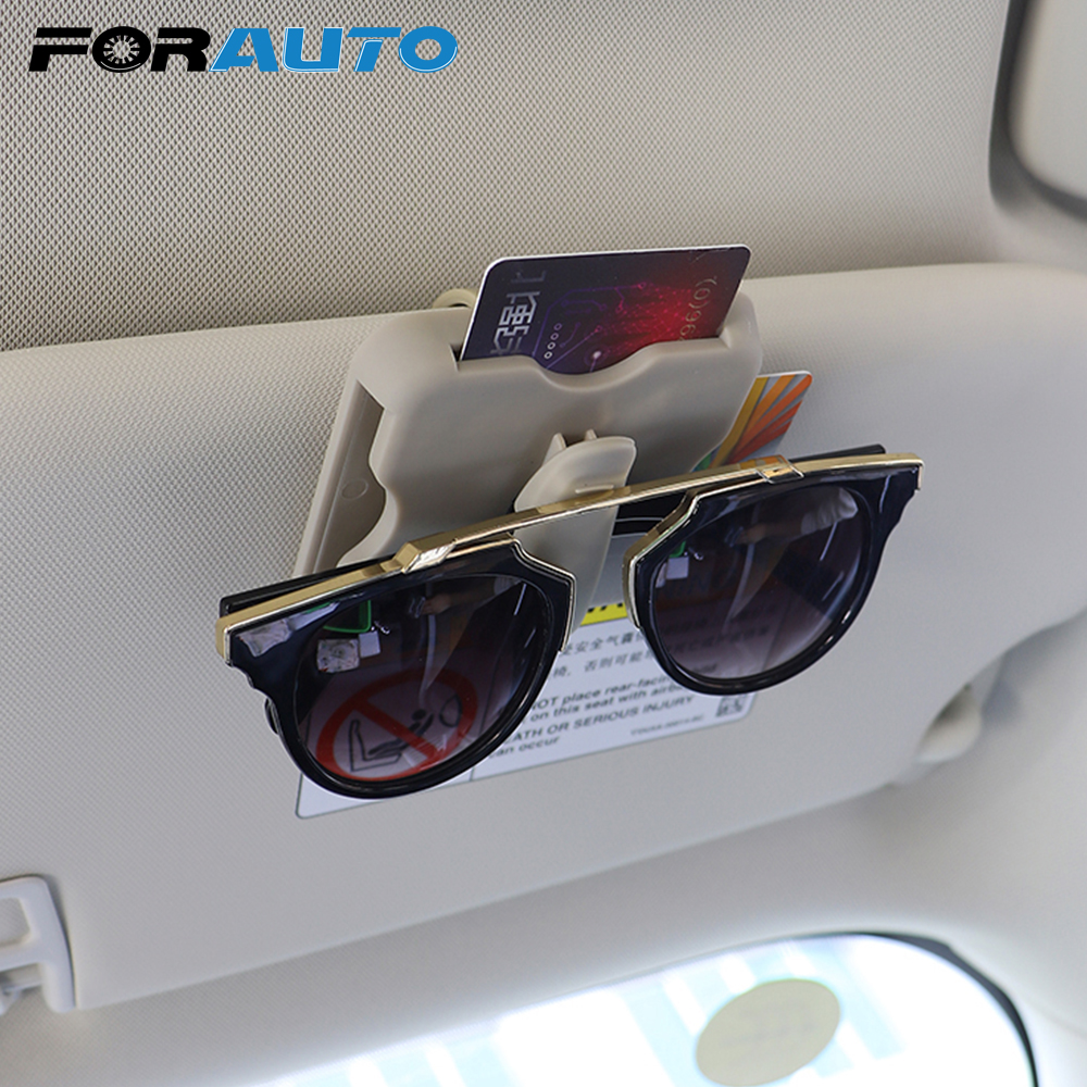 FORAUTO Sunglasses Holder Interior-Accessories Car-Organizer Sun-Visor Car-Styling High-Speed-Card-Clip