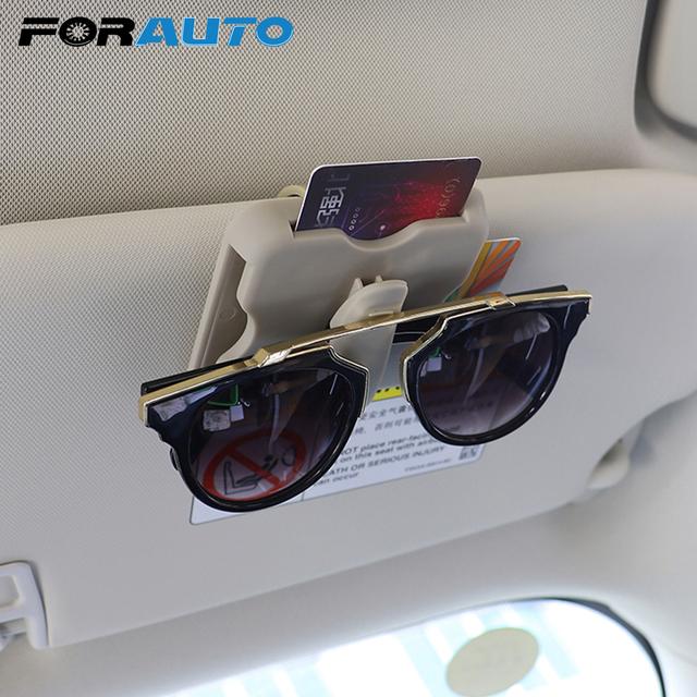 Funda para gafas de coche de alta velocidad con Clip para gafas de sol y parasol para coche accesorios