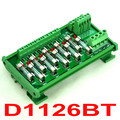 DIN Rail Mount 10 Position Power Distribution Fuse Module Board, For AC230V.