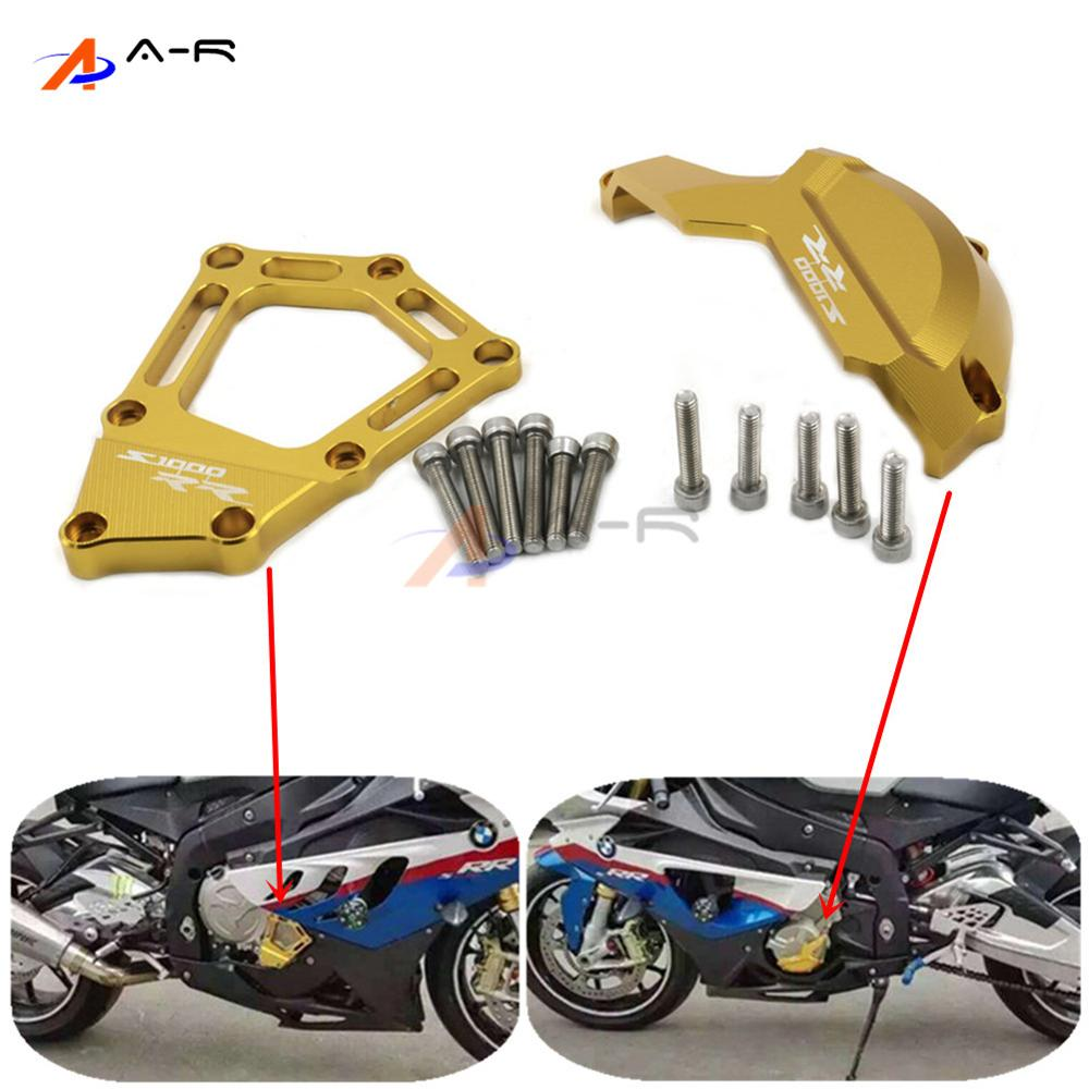Motorcycle CNC Aluminum Engine Saver Stator Case Guard Cover Slider Protector For BMW S1000RR 2009 2010 2011 2012 2013 2014 aluminum water cool flange fits 26 29cc qj zenoah rcmk cy gas engine for rc boat