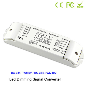 BC334 DIP switches out 4 channels LED dimming signal converter signal driver controller0/1-10V to PWM 5V/PWM 10V 2  for led lamp sbus to pwm decoder for frsky rxsr xm xsr receivers sbus to pwm signal output