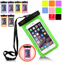 Waterproof Pouch for Lenovo A858 / A858T Water Proof Diving Bags Outdoor Mobile Phone Cases Underwater Phone Bag with Neck Strap