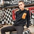 VIISHOW Men Hoodies Casual Pocket Sweatshirt Pullover Men Slim Patchwork Brand Long Sleeve Round Neck Hoodies WD03163