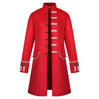 Medieval Retro Men Coats Gothic Steam Punk Costumes Dress Stand Collar Halloween Clothes Coat High Quality Men Clothing Coat