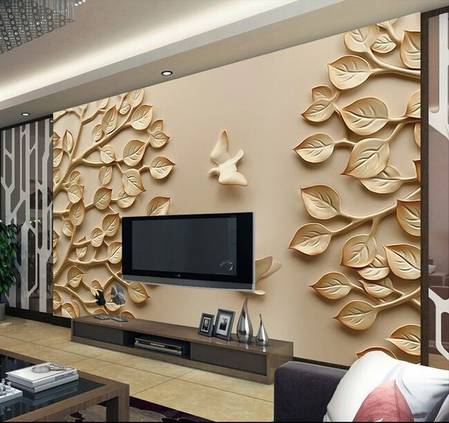 beibehang benutzerdefinierte 3d fotowand papier 3d hintergrund schlafzimmer den wand tapeten 3d relief baum raum 3d - Tapeten Schlafzimmer