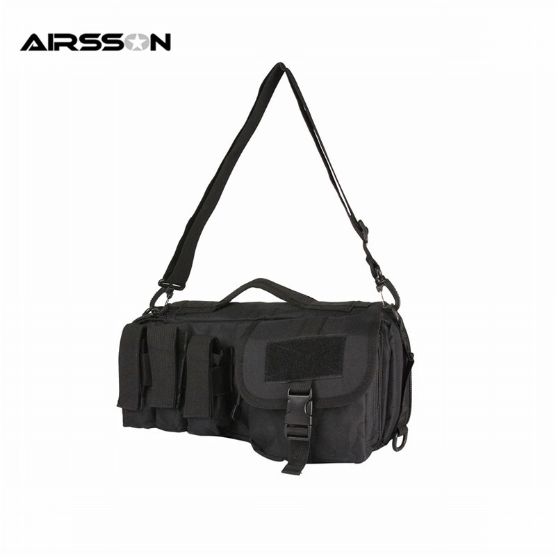 Tactical Military Airsoft Combat Army Molle Nylon Durable Outdoor Sport Pistol Gun Carrying Bag Pouch Case With Adjustable Strap tactical hunting rifle backpack molle large capacity gun bag 900d military airsoft shooting army combat gun handbag gear