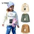Otoño Invierno Muchachas de Los Bebés Sudadera Polar Caliente T Shirt Para Niños Niñas Camisa Básica de La Manera de Los Niños Outwear la Ropa