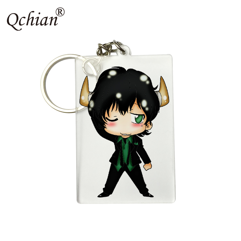 Popular Anime Katekyo Hitman Reborn HD PNG Format Picture Printed Series Backpack Pendant Keychain Logo Customization