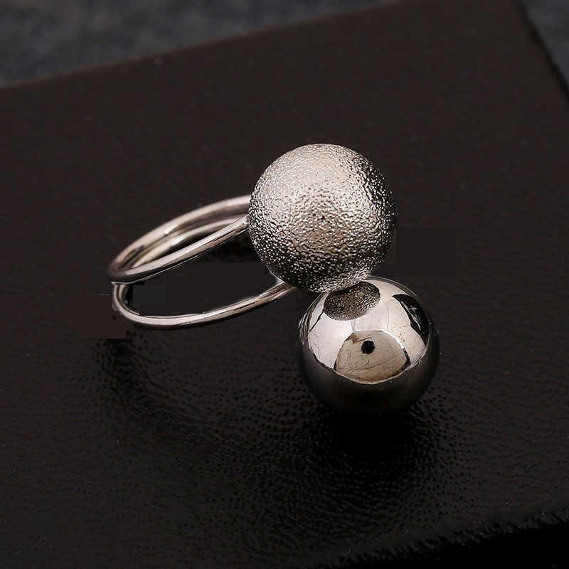 ปรับเพิ่มขึ้นแหวนทองชุบคู่F Auxเพิร์ลแหวนนิ้วเครื่องประดับสแตนเลสทังสเตนคาร์ไบด์แหวนของขวัญ