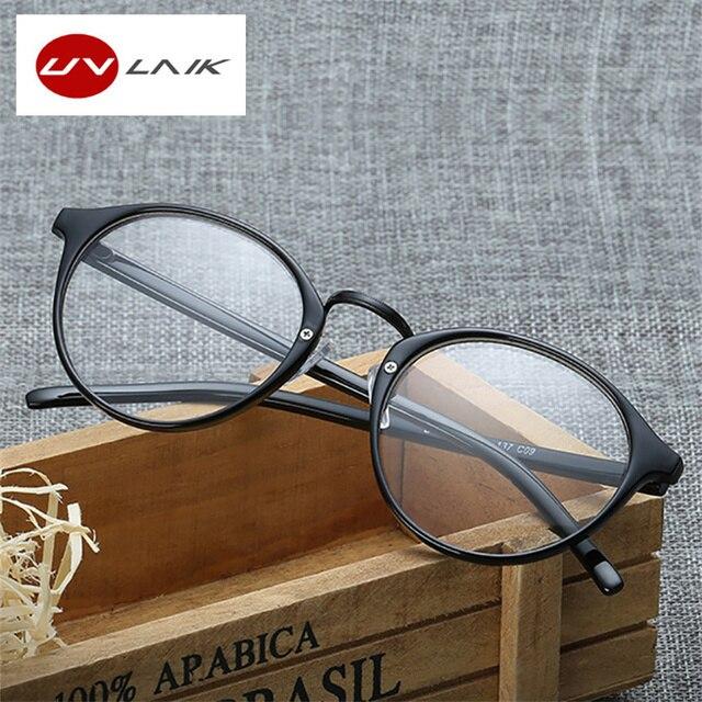 2ea7a4732e UVLAIK Fashion Optical Glasses Frame Glasses With Clear Glass Men Women  Brand Round Clear Transparent Women s