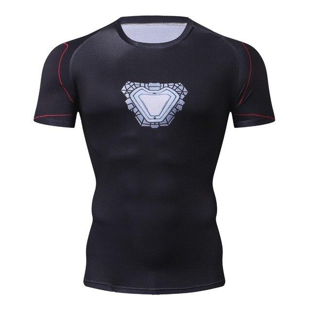 New Marvel Ironman/Spiderman/Black Panther/Thor/Batman 3D Impresso T Shirt Homens Verão Compressão Moda homens T-Shirt Tops & T