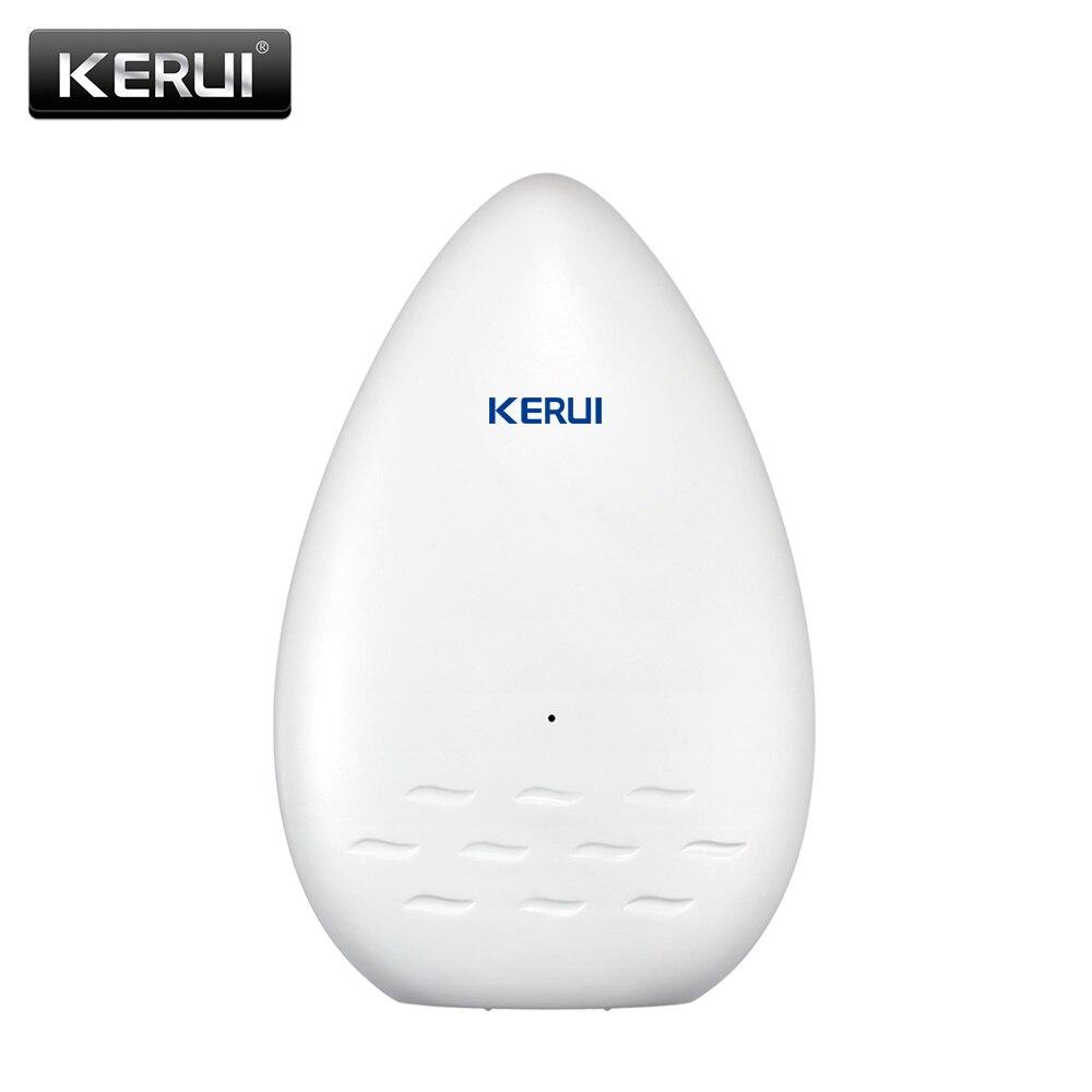 KERUI WD51 120dB fugas de agua Sensor de equipos electrónicos de fuga de agua Detector de alarma de seguridad fuerte ya alarma de detección de