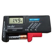 BT-168D цифровой тестер батареи Емкость батареи диагностический инструмент ЖК-дисплей проверка AAA AA кнопки сотового Универсальный Тестер