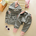 Идеальный прилив мужской ребенок сокровище мультфильм динозавра костюмы осень осенняя мода с длинными рукавами осенью ребенок мужского пола 1-5 летних детей 2 d