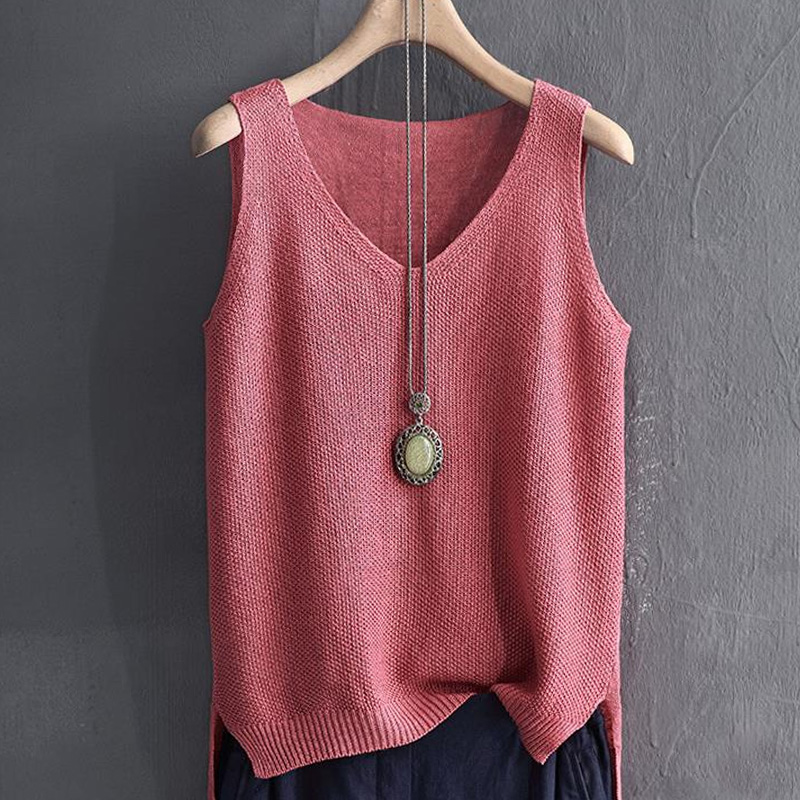 fashion womens clothing sleeveless summer v collar women   blouse     shirt   solid knitted   blouse   women womens tops and   blouses   2652 50