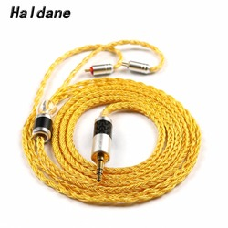 Free Shipping Haldane Hand Made 16Cores 0.78mm 2pin for w4r um3x es3 es5 1964 Heir 10.A IEM8.0 IEM10.0 Headphone Upgrade Cable