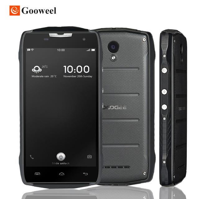 "Original Doogee T5S 5.0""HD Quad Core 2GB RAM 16GB ROM MT6735 Android 6.0 8.0MP 1280x720 4500mAh IP67 Waterproof Mobile Phone"