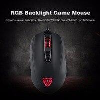 Motospeed V60 Game Mouse Ergonomic Design 5000DPI USB Wired Gaming Gamer Mouse Optical RGB Backlit Mouse