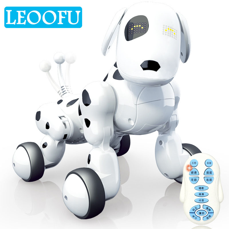 LEOOFU cute wireless remote control smart robot dog kids toy intelligent talking robot dog toy electronic pet toy birthday gift pet safe electronic shock vibrating dog training collar with remote control 2 x aaa 1 x 6f22 9v