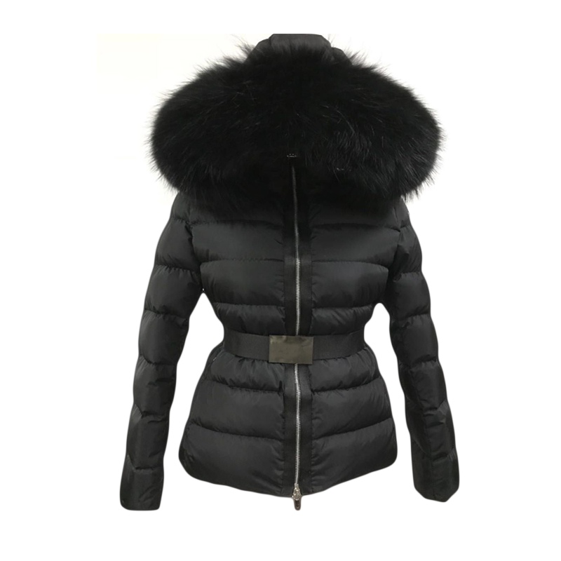 2018 New Winter Thick Women Winter White Down Jackets natural fur Hooded Women Parkas Coats