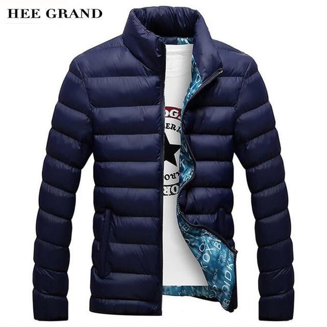 HEE GRAN Moda Casual Parkas Cuello alto Color Sólido Algodón Material Delgado Invierno Outwear 4 Colores Más El Tamaño MWM1380