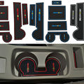 8Pcs Anti Non Slip With Words In Car stickers Interior Door Groove Cup Gate Slot Mat Pad For Mitsubishi Lancer EX Car-Styling