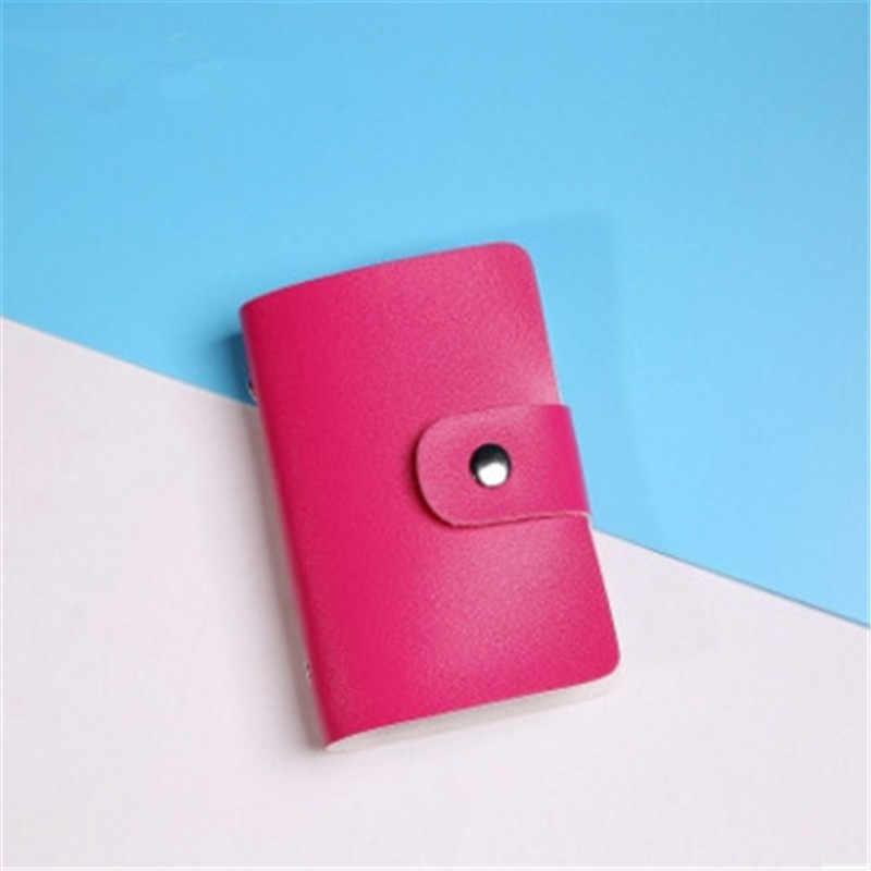 Nuevo estilo PU cuero 24 tarjetas de identificación tarjeta bancaria tarjeta de crédito de negocios multifunción cubierta cartera bolsas 3020