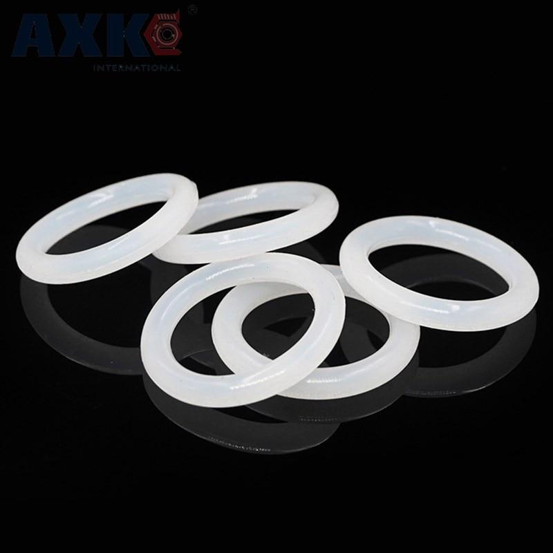 все цены на AXK Food Grade White O-ring Seals Silicon 5mm Thickness Rubber O Ring Sealing Gasket OD 75/80/85/90/95/100/105/110/115/120/125mm онлайн