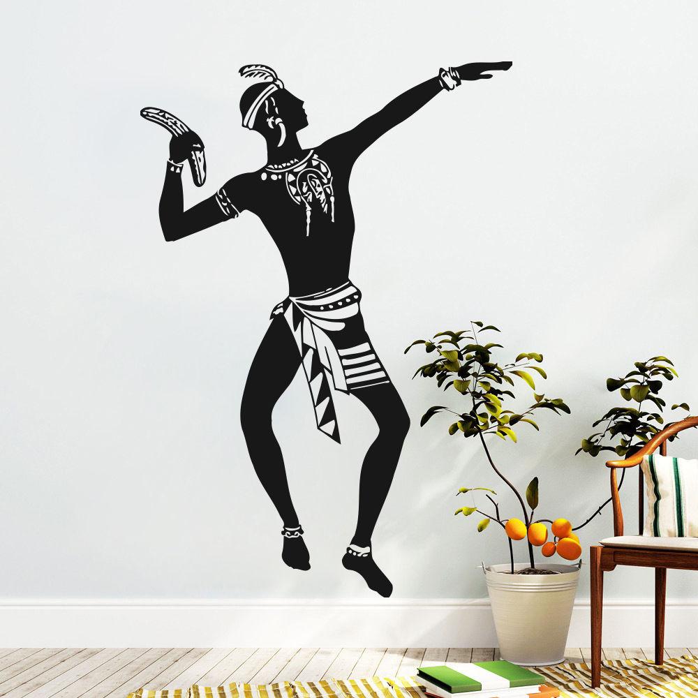Original African Portrait Wall Art Vinyl Decals Africa Stickers Kids Children Nursery Bedroom Decoration In From Home Garden On