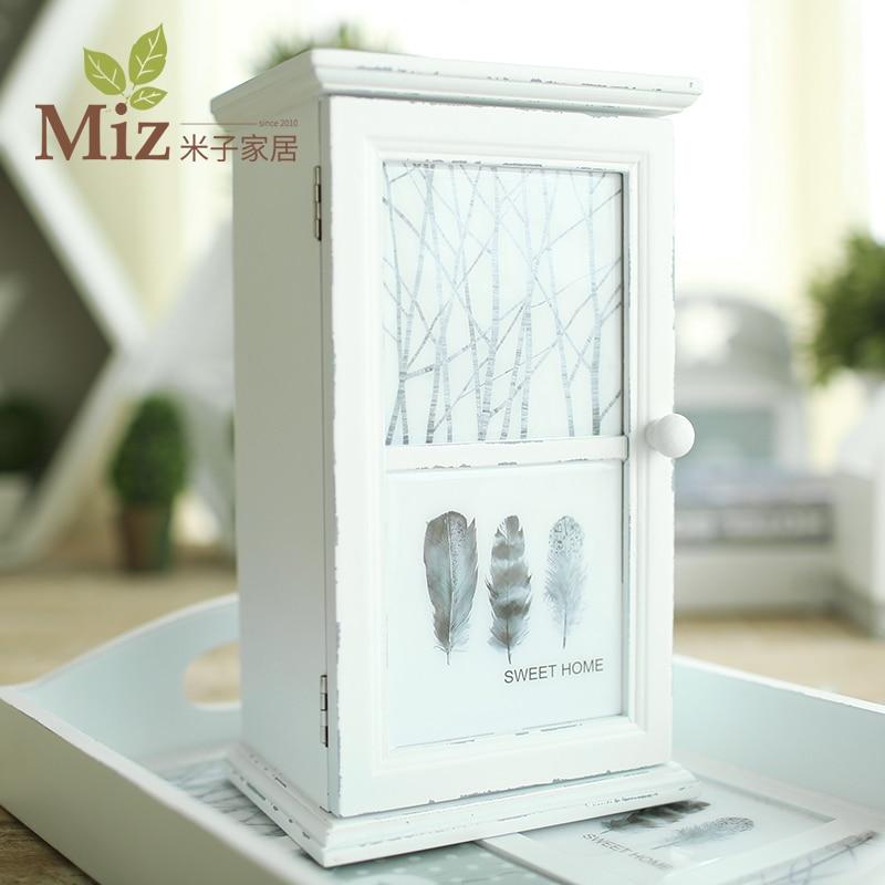 Einfache Holz Schmuck Einrichtungs Meter Schrank Bett Ornamente Box Vitrine  Pull Double Plander(China (