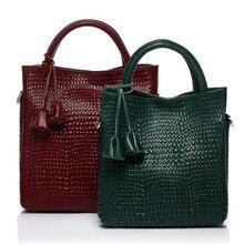 Marke Echtes Leder Frauen Handtasche Alligator Muster Kuh Leder-umhängetasche Berühmte Mode-Design Top MonBag