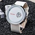 Único paidu turntable 3 tipo preto relógio hora de relógio pulseira de couro dos homens dos meninos presente analógico de quartzo relógios de pulso relogio masculino