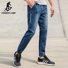 Pioneer camp neue sommer jeans männer marke kleidung solide dünne bleistift denim hosen männlichen top-qualität stretch hose blau anz703129