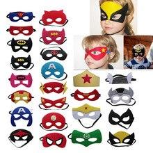 Маска супергероя для костюмированной вечеринки, Супермен, Человек-паук, Халк, Тор, Железный человек, флэш-принцесса, Хэллоуин, Рождество, Детские вечерние костюмы, маски