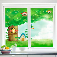 Customized Static Cling Stained Glass Window Film Frosted Opaque & Privacy Home Decor Digital print Removable BLT206 Warm Spring