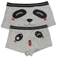 2pcs Delicate Couples Underpants Men Women Personality High Elastic Cotton Sexy Cartoon Panda Knickers Intimate Accessorie