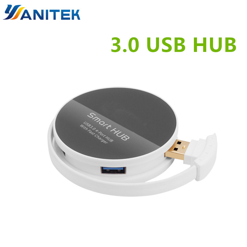 Onten 4Port USB 3.0 USB Splitter Switcher With Fast Charger For Mobile Phone Tablets Mouse Keyboard USB OTG Cable Adapter Switch