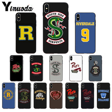 11pro MAX American TV Riverdale Painted LOGO TPU Soft Silicone Phone Cover for Apple iPhone 8 7 6 6S Plus X XS 5 5S SE XR