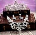 Nova Moda de Luxo de cristal de noiva conjuntos de jóias Colar Rhinesone set para a Noiva do casamento acessórios para o cabelo