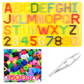 5 mm use Alphabet and number pegboard/board for Fuse/perler/pix/hama/iron/melty/melting beads Kids crafts DIY Educational toys