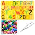 5mm usar el alfabeto y el número de placa/placa para fusible/perler/pix/hama/hierro/ melty/Cuentas de fusión niños manualidades DIY juguetes educativos