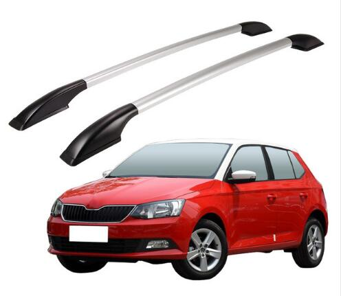 FUWAYDA Aluminum alloy 1.3M Car Roof rack Luggage Carrier bar Car Accessories For Skoda Fabia 2008 09 10 11 12 13 14 15 shiturui for skoda fabia ultra quiet truck roof bar car special aluminum alloy belt lock