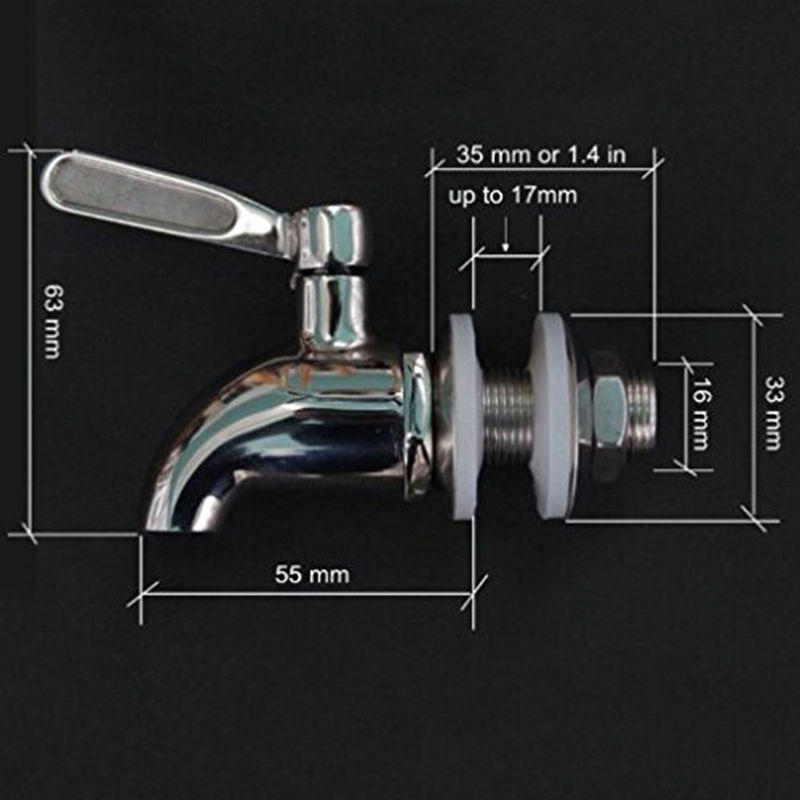 Hot Wine Barrel Spigot/Faucet/Tap Stainless Steel Replacement ...
