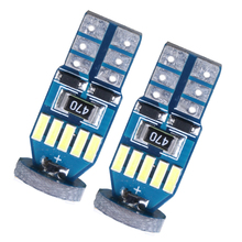 2PCS T10 W5W 4014 15 LED car interior light marker lamp 12V 168 194 501 Side Wedge parking bulb canbus auto signal lights