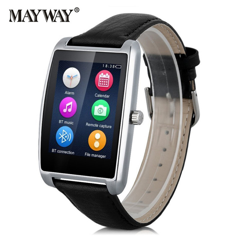 <font><b>Bluetooth</b></font> Smart Watch Wrist Watch For Android IOS GSM SIM TF Card Messages <font><b>Phone</b></font> Clock Calls Pedometer Waterproof Monitor Rate