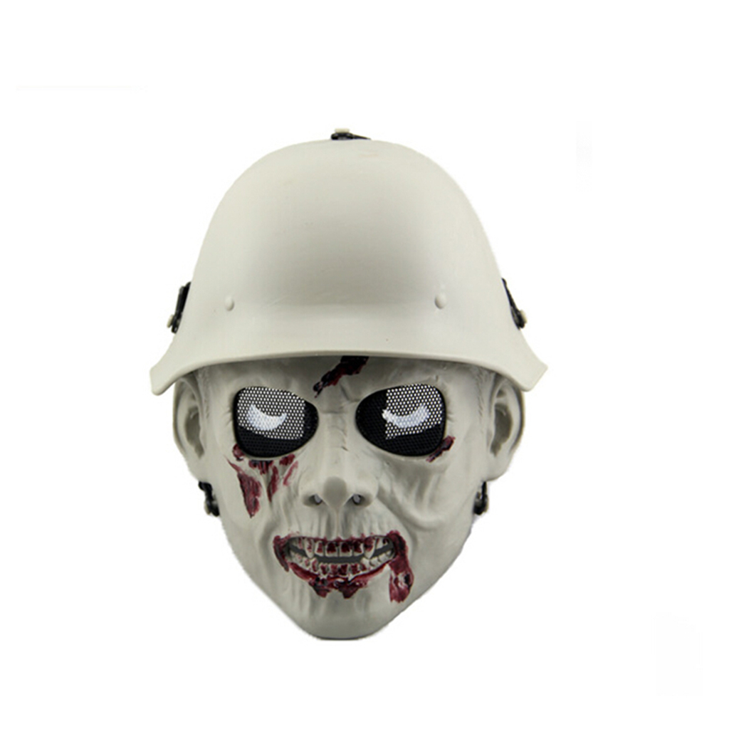 Image 4 - Outdoor Hunting Cs Wargame Mask Halloween mask Ghost Full Face Skull Bone Airsoft Paintball Mask-in Paintball Accessories from Sports & Entertainment