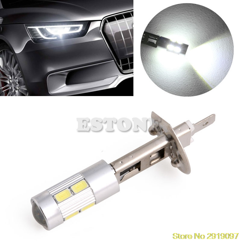 New 1pc 5630 SMD 10 LED H1 Voiture Lampe  Brouillard Ampoule Phare DC 12V Drop Shipping Support